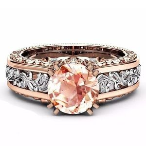 Jewelry - Fashion Hollow Zircon Rose Gold Plated TwoTone